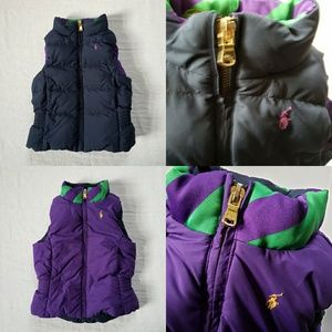 3T Girls Ralph Lauren Polo Reversible Puffer Vest